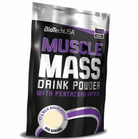 Гейнер BioTechUSA Muscle Mass, клубника, 1000 г